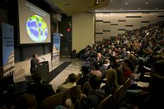 A large crowd attended Professor Chisholm's lecture; photo: Dominick Reuter