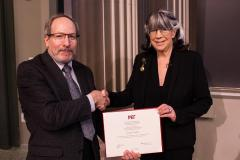 Photo of Prof. Susan Silbey with Prof. Rick Danheiser, chair of the MIT faculty
