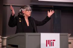 Professor Silbey delivers her lecture